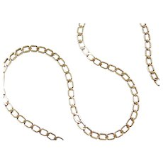 """16 1/4"""" 14k Gold Link Chain ~ 18.7 Grams"""