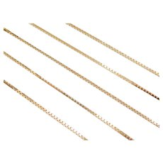"17"" 14k Gold Box Chain ~ 2.8 Grams"