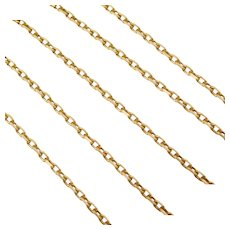 "18"" 14k Gold Cable Link Chain ~ 5.1 Grams"