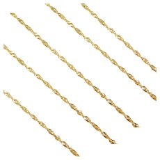"22"" 14k Gold Singapore Chain ~2.0 Grams"