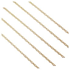"""17"""" 14k Gold Loose Rope Chain ~ 1.7 Grams"""
