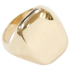 14k Gold Big Plain Ring