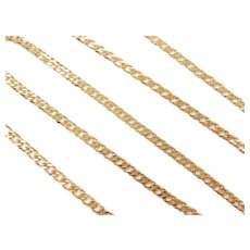 "Double Link Chain Necklace 18k Gold 18"" Length, 7.0 Grams"