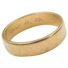 14k Gold Wedding Band Ring 1952