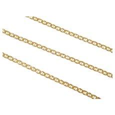 """Vintage 14k Gold Flat Marine Anchor Link Anklet ~ 9"""""""