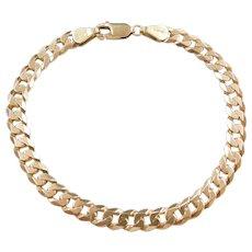 """Vintage 14k Gold Curb Link Bracelet ~ 7"""""""