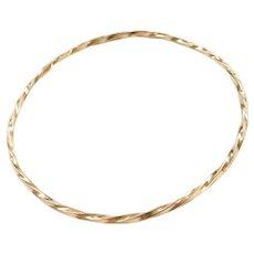 """7 7/8"""" Twisted Bangle Bracelet"""