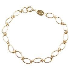 """7 1/2"""" 14k Gold Link Bracelet"""