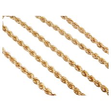 """20"""" 14k Gold Rope Chain ~ 7.5 Grams"""