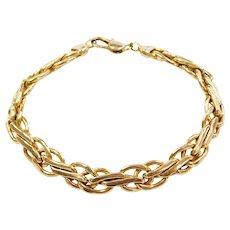 """8 1/8"""" 14k Gold Link Bracelet"""