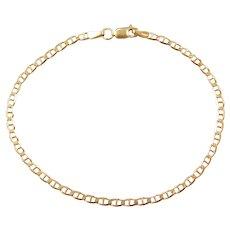 """8 1/4"""" 14k Gold Flat Marine Anchor Link Bracelet"""