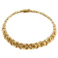 "8 1/4"" 14k Gold Hug and Kiss Bracelet"