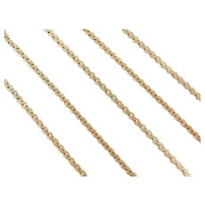 "21"" 14k Gold Serpentine Chain ~ 9.0 Grams"