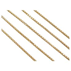"20"" 14k Gold Box Chain ~ 10.6 Grams"
