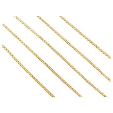 "30"" Long 14k Gold Link Chain ~ 7.8 Grams"