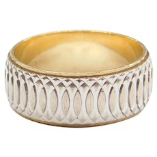 14k Gold Two-Tone Band Ring