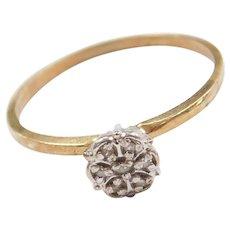 10k Diamond Illusion Ring ~ Two-Tone Cluster