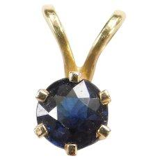 .40 Carat Sapphire Tiny 10k Gold Pendant