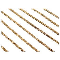 """Vintage Intricate Woven Endless Chain Necklace 18k Gold 52"""" Length, 34.2 Grams"""