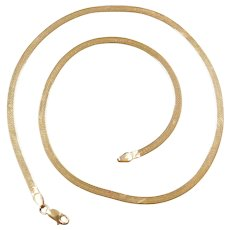 "18"" 14k Gold Herringbone Chain ~ 7.7 Grams"