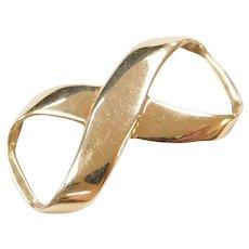 14k Gold Infinity Link Pendant
