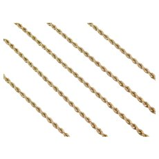 "24"" Long 14k Gold Rope Chain ~10.7 Grams"