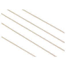 "18"" 14k Gold Curb Chain 1.1 Grams"