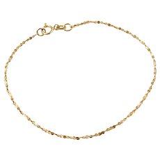 "7"" 14k Gold Twisted Serpentine Bracelet"