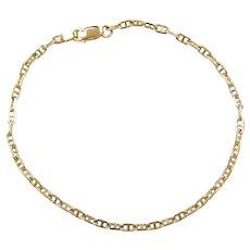 """8"""" 14k Gold Marine Anchor Link Bracelet"""
