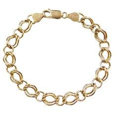 """7"""" 14k Gold Hollow Link Bracelet"""