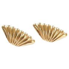 14k Gold Big Stud Earrings