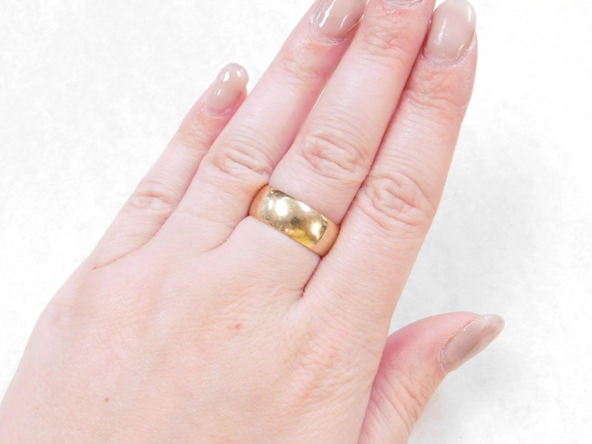 Vintage 14k Gold Wide Band Ring : Arnold Jewelers | Ruby Lane