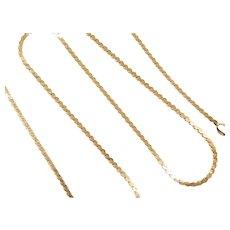 """16"""" 18k Gold Serpentine Chain ~ 6.0 Grams"""