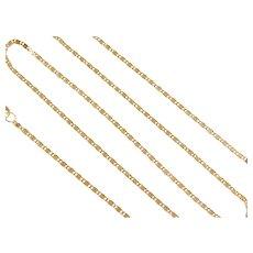 """16"""" 18k Gold Snail Chain ~ 2.1 Grams"""