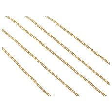 """18"""" 18k Gold Snail Chain ~ 2.3 Grams"""