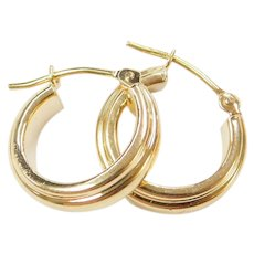 18k Gold Small Hoop Earrings