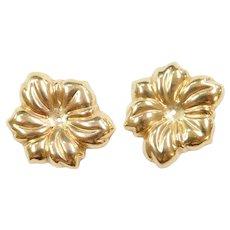 14k Gold Flower Earring Jackets