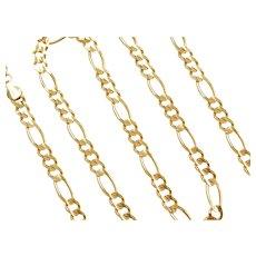 "20"" 14k Gold Men's Figaro Link Chain ~ 26.2 Grams"