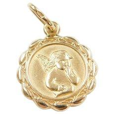 14k Gold Angel Charm / Pendant