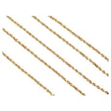 "18"" 18k Gold Diamond Cut Rope Chain ~ 4.2 Grams"