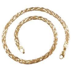 "18"" 18k Gold Woven Necklace ~ 19.8 Grams"