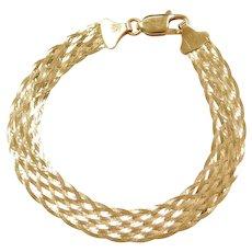 """7 1/2"""" 18k Gold Woven Bracelet"""