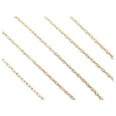 "Loose Rope Chain 14k Gold 18 1/2"" Length, 3.6 Grams"