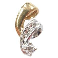 Diamond .04 ctw Journey Pendant 10k Gold Two-Tone