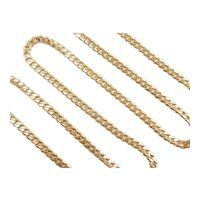 """Long Solid Curb / Miami Cuban Link Chain 18k Gold 24"""" Length, 29.7 Grams"""