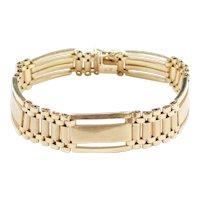 """Gents Fashion Link Bracelet 14k Gold 8"""" Length, 26.9 Grams"""