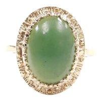 Vintage Jade Ring 10k Gold