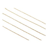 """Thin Loose Rope Chain 14k Gold 18"""" Length, 1.6 Grams"""