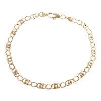 "Fancy Link Bracelet 14k Gold 7 3/4"" Length, 5.7 Grams"