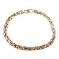 """Woven Link Bracelet 14k Gold 7"""" Length, 5.9 Grams"""
